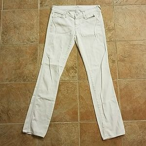 SFAM 7 for All Mankind White Jeans Size 28